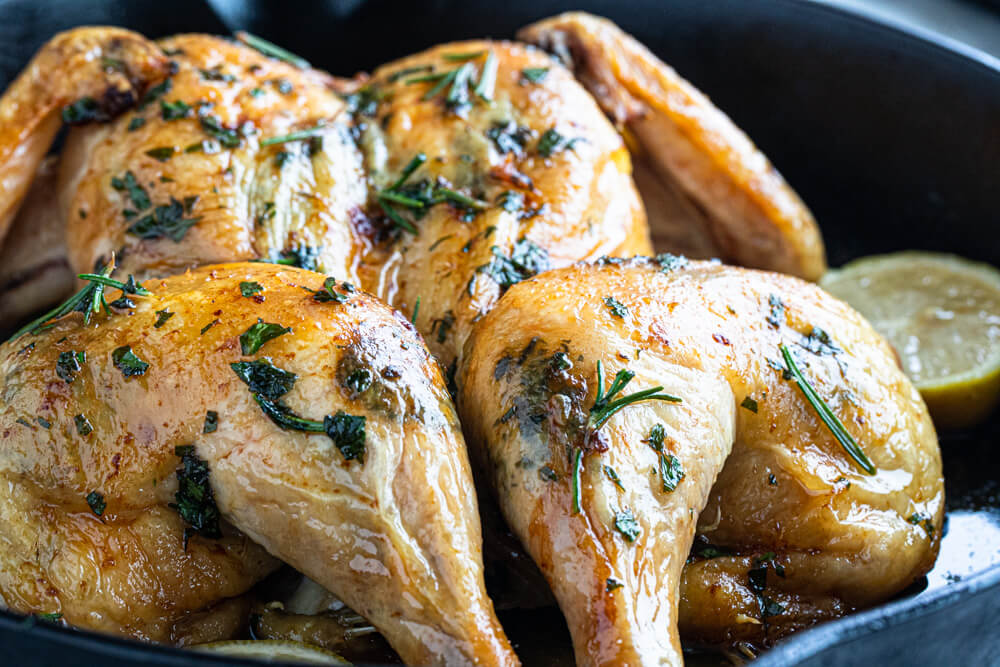 close up of whole poultry