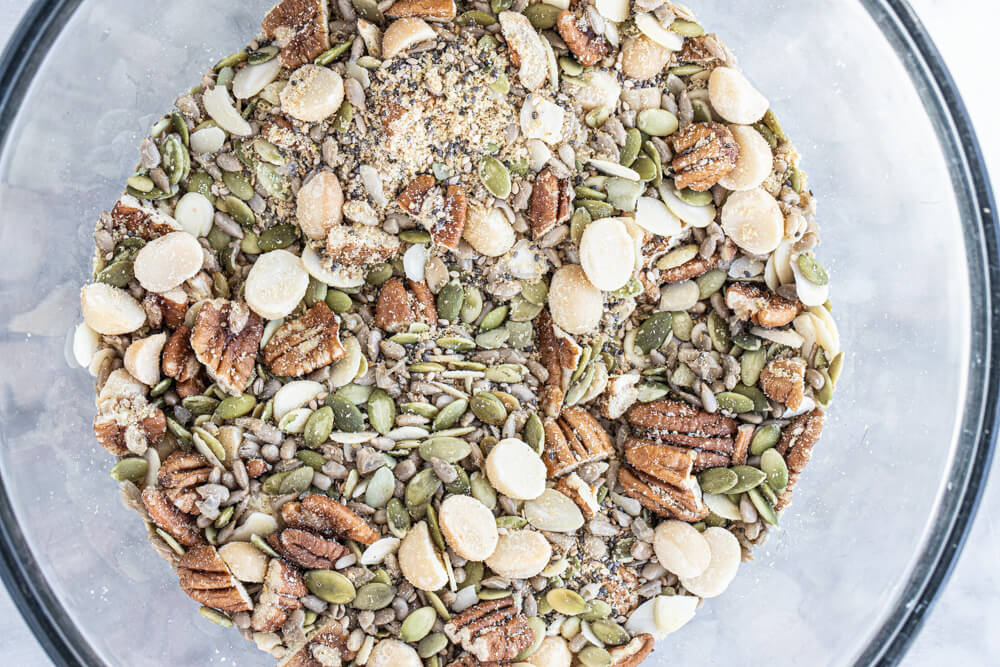 bowl of nuts and seeds
