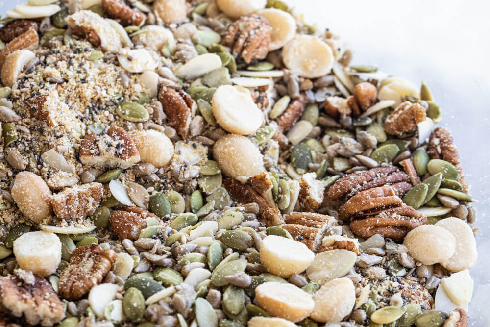 pile of nuts and seeds