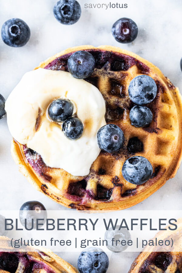 mini waffle with blueberries