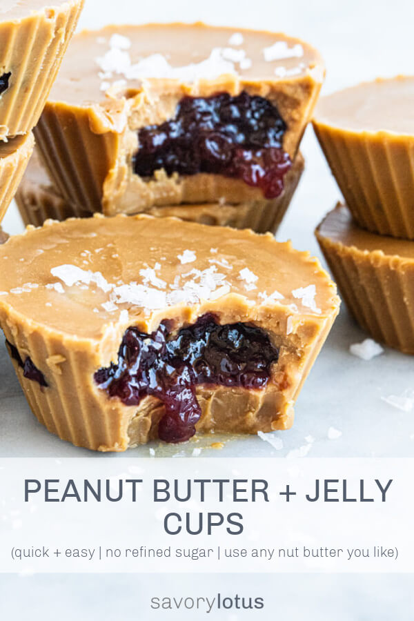 jam oozing out of peanut butter cup