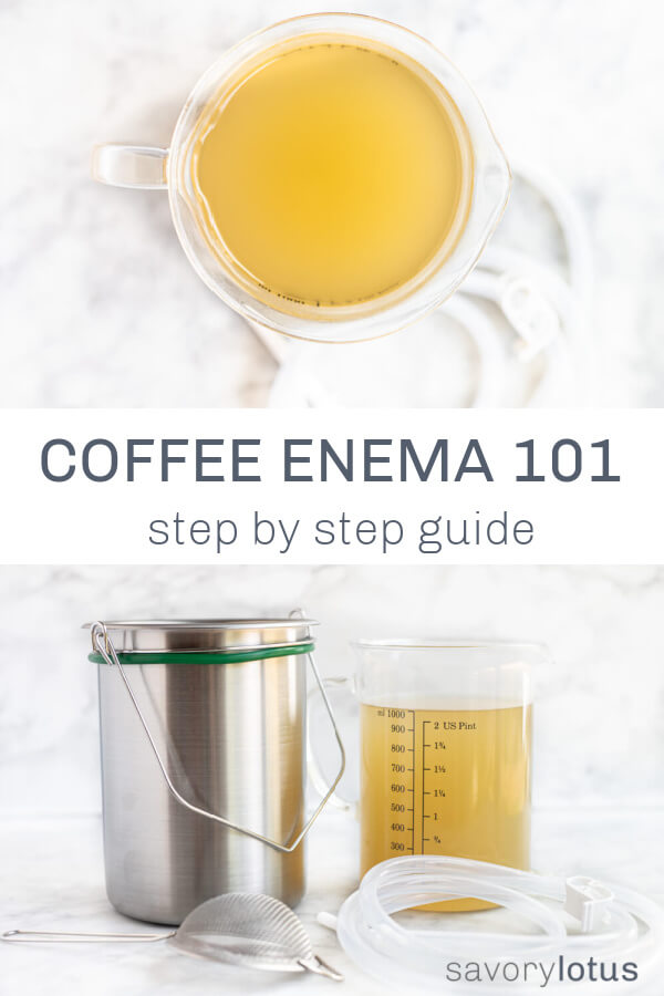enema buckets with coffee