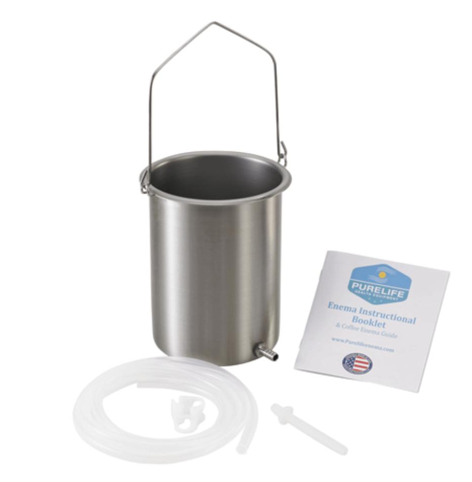 stainless steel enema bucket