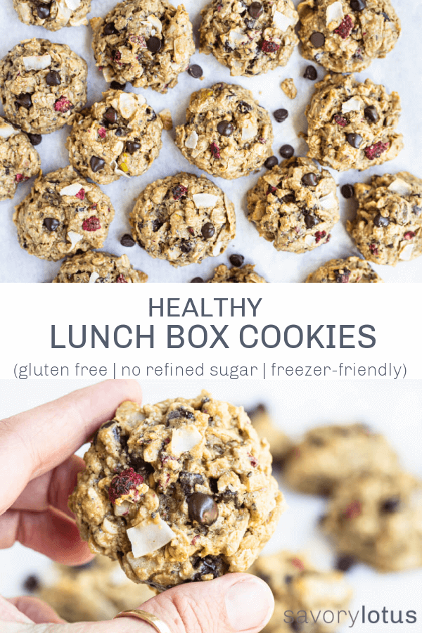 lunch box cookies on parchment paper