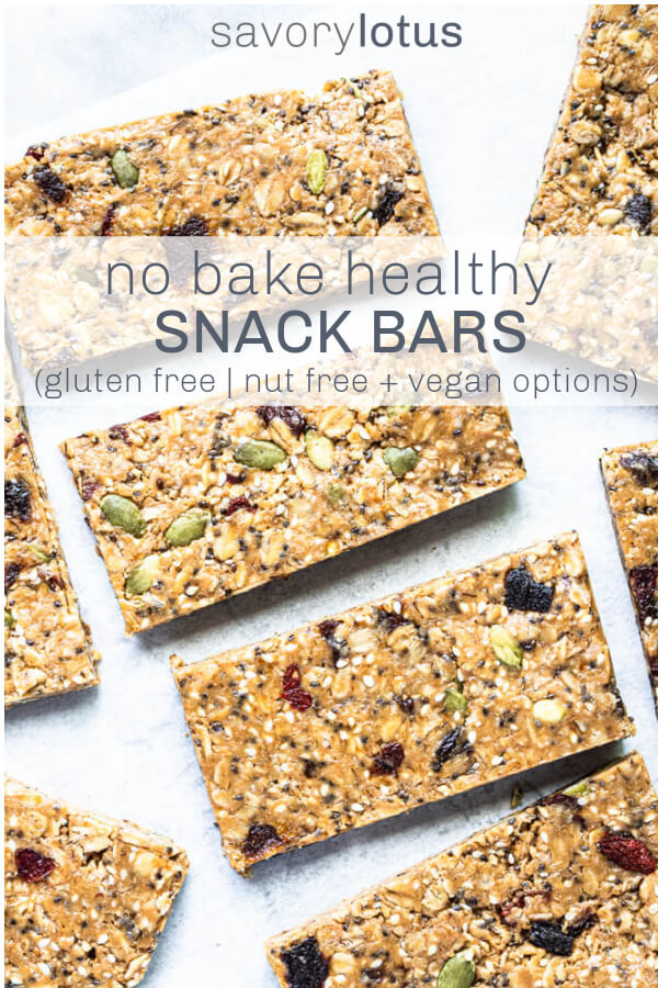 gluten free snack bars on white counter