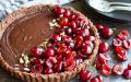 No Bake Chocolate Tart with Fresh Cherries (gluten free, paleo, and vegan)